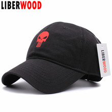 High Quality Embroidered Hero US Punisher SKULL Logo Baseball Cap Snapback Hats Outdoor Casual & Sport Cap hats(China)