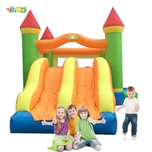 YARD Outdoor Party Inflatable Toys Jumping Castle Trampoline with Dual Slide Bounce House for Kids Gift