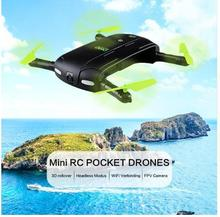 Mini Foldable RC Pocket Drone Dron WiFi FPV 0.3MP Camera Drones Phone Control RC Helicopter DHD D5 Quadcopter VS JJRC H37 523