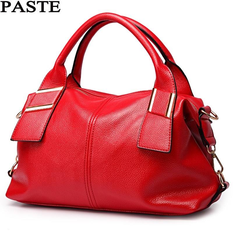 PASTE Famous brand designer Luxury leather handbags Fashion Bohemian style women bag High quality women Shoulder Bags sac a main(China)