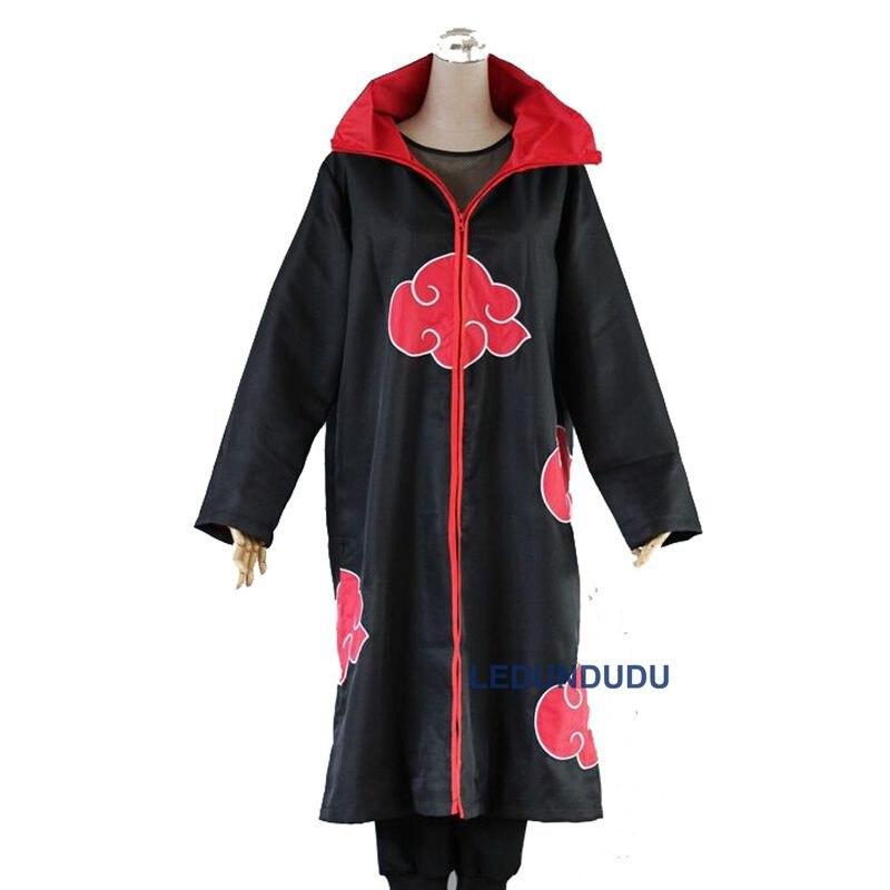 Naruto Cosplay Costume - Naruto Akatsuki Cloak Cosplay Clothes Halloween Party Cos Coat Wholesale (6)_
