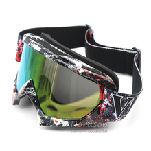 New Goggle UV Protection Stripe Gafas Moto Motorcycle Glasses Motocross Goggles Ski Cross Country Flexible Dirt Bike Goggles