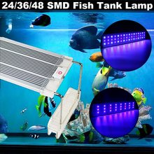 Smuxi 24/36/48 LED Tube Aquarium Fish Tank Light 5730SMD Full Spectrum Grass Lamp LED Lighting with Holder 30/45/60cm AC220V