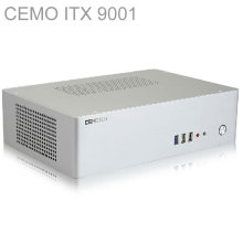 HTPC ITX Mini case with 300W Power, USB3.0, 3.5'' HDD, 2 PCI slots, aluminum computer case, mini computer, Multimedia, CEMO 9001