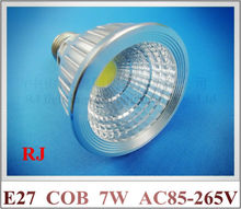 spotlight COB LED spot lamp 7W LED spot light par light parlight E27 COB led chip 7W AC85-265V aluminum CE indoor spotlight