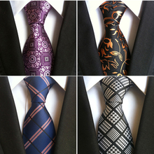 JEMYGINS Fashion Silk Mens Ties New Design Neck Ties 8cm Plaid&Striped Ties for Men Formal Wear Business Wedding Party Gravatas