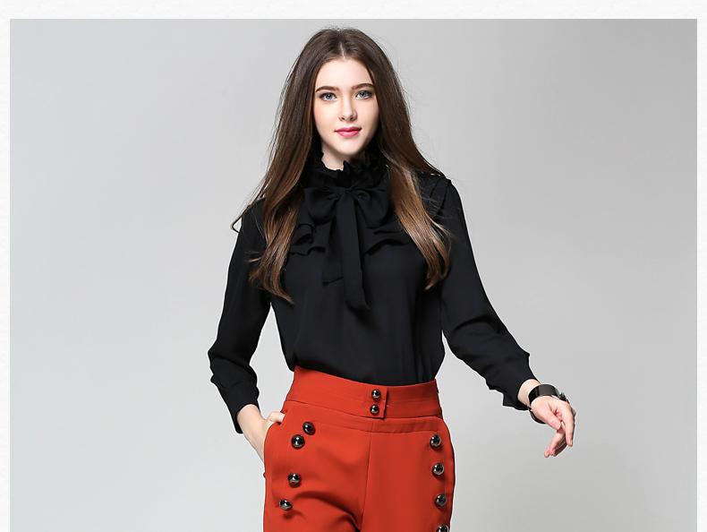 Long Sleeve Office Ladies Women Shirts (17)