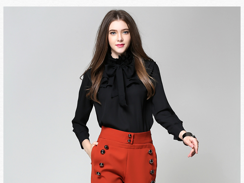 Long Sleeve Office Ladies Women Shirts (17)