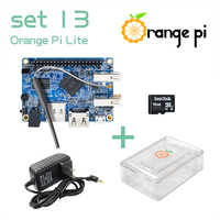 Orange Pi Lite SET13: Pi Lite + Transparent ABS Case+ Power Supply+ 16GB Class 10 Micro SD Card Beyond Raspberry