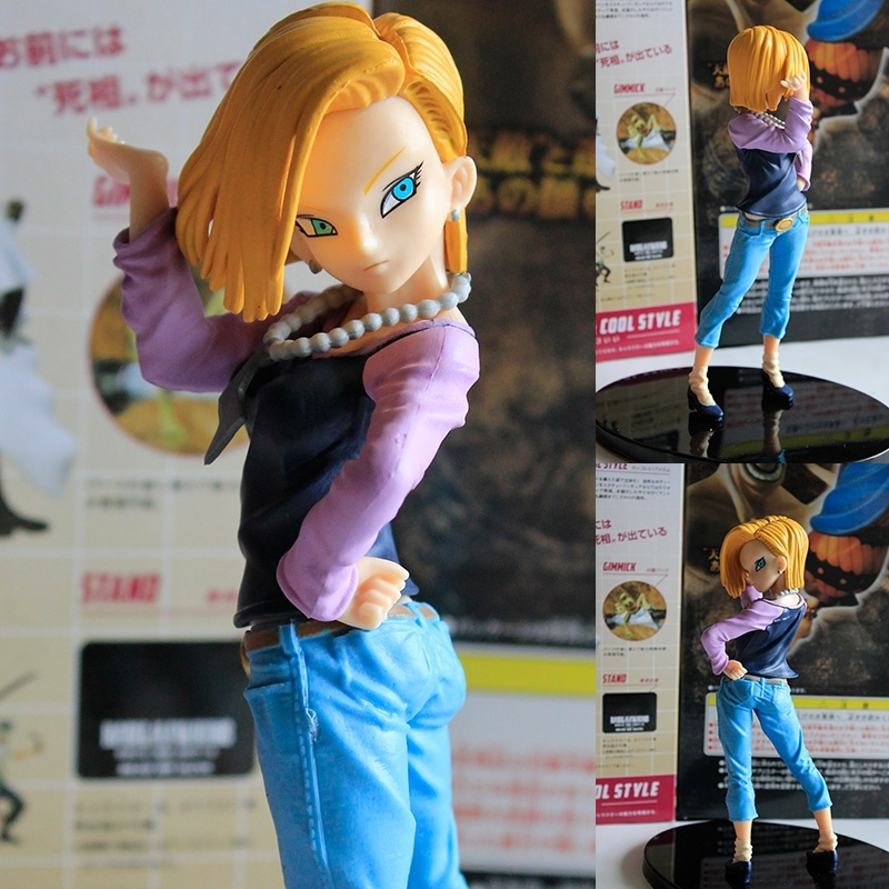 Dragonball Android 18 Action Figure Dragon Ball Z Lazuli Collection Model Toy Figuras 15cm<br><br>Aliexpress