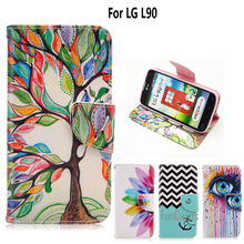 For coque LG L90 Case for fundas LG L90 D405 D410 D415 Cover Case 4.7 inch + Stand Card Holder Cell Phone coque capa(China)