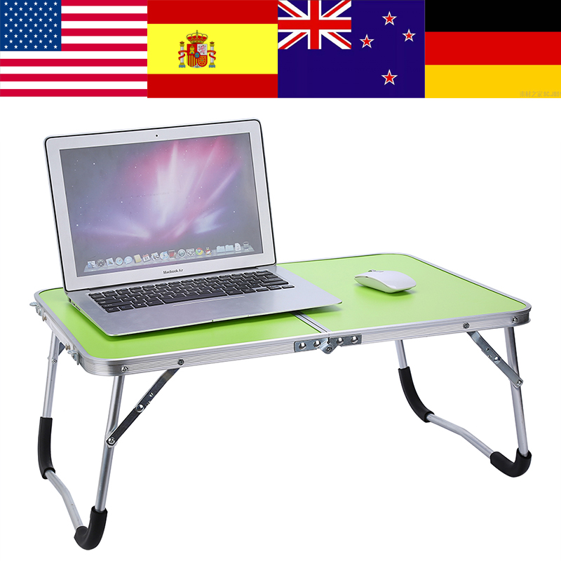 Small Desk Notebook Bed-Tray Table-Dormitory Computer-Desk Folding Multifunctional-Light title=