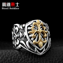 Steel soldier wholesale hot sale Gothic Men's High Quality Fashion Jewelry Stainless Steel Fleur De Lis(China)