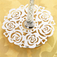12PC Ivory Laser Cut Vine Flower Paper Doilies Cup Coaster Table Mat Cup Mat Placemats for Christmas Party Wedding Favors Decor