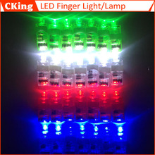 50pcs/lot Flashing LED finger light led toy flashing led light toy finger lamp Toys Free Shipping