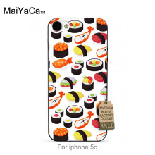 MaiYaCa soft black tpu silicone Bread Sushi Plant flowers Personality phone Accessories cover For iPhone se 5c 6s 7 plus case(China)