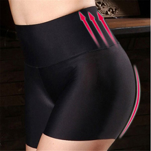 Buy High Waist Tummy Shaping Women Panties Boyshort Underwear Breathable Ice Silk Seamless Women Boxer Shorts Underpant Lingerie New