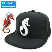 New hiphop street lord of the sea horse dragon marine life Underwater World Ocean Park Snapback Caps Hat for Adult Men Women