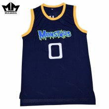MM MASMIG Alien 0 Monstars Basketball Jersey Dark Blue For Free Shipping S M L XL XXL XXXL