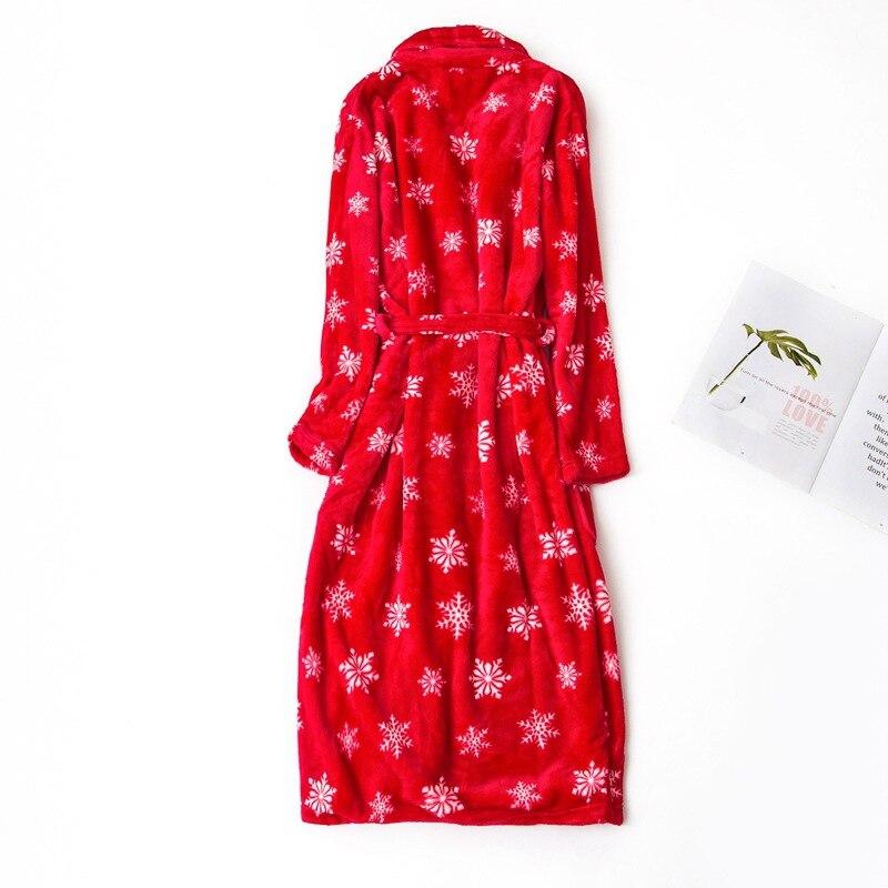 women flannel bathrobe winter (3)