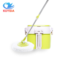 KOYIDA Dual Drive Household Mop Bucket Stainless Steel Mops Magic Spin Mop Bucket Hand Pressure With 1 Microfiber Mop Head