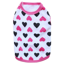 Happy Gifts Fashion Small Pet Dog Cat Cloth Cute Puppy Summer Vests Pets Love Cotton Jersey Vest Pet Clothing(China)