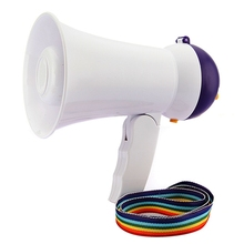 New Stylish Best Price Mini Portable Megaphone Foldable Bullhorn Handheld Grip Loud Clear Voice Amplifier Loudspeaker