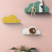 collalily Nordic Wall Decoration Magazine Storage Cloud Holders Racks wood Modern Design Hanger for corridor children kid room