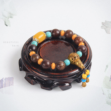 Wood Jewelry Display Carved Jade Circular Base Bracelet Display Stand Display Props Exquisite Ancient Art E38 9*9*2.5cm Display