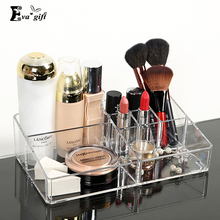 Crystal Acrylic Cosmetic Organizer Clear Makeup Jewelry Cosmetic Storage Display Box Acrylic Case Stand Rack Holder Organizer