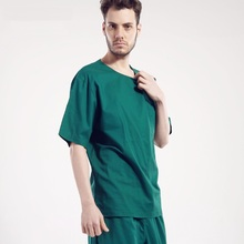 Hospital Doctor Gowns Short-sleeve Isolation Scrub Sets Nurse 100% Cotton Work Wear Set Men Women Medical Clothes,J72