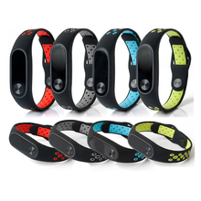 Buy Double Color Wrist Strap Xiaomi Mi Band 2 Silicone Strap Bracelet MiBand 2 Replacement Wristband Band Accessories for $6.99 in AliExpress store