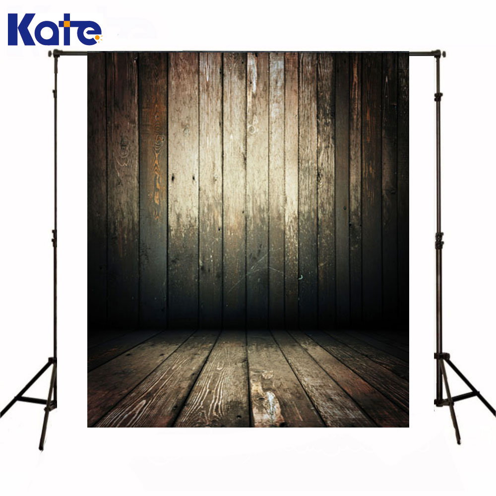 Kate Backdrops Newborn Baby Wooden Wall Fundo Fotografico Madeira Dark Wood Texture Floor Background For Photo Studio<br>
