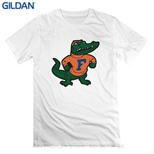 GILDAN Printed T Shirt Men Cotton T-shirt New Style Mens Florida Gators Mascot Albert Alberta Short Slev Tee Tshirt(China)