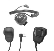 XQF New black PMMN4013A 2 Pin Handheld Speaker Microphone MIC for MOTOROLA Radios GP300 GP88s GP2000 J0303A with free shipping(China)