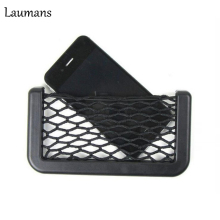 Laumans TOP Quality Car Styling Universal Auto Car Seat Back Storage Net Bag Phone Holder Pocket For Iphone For All Smartphones