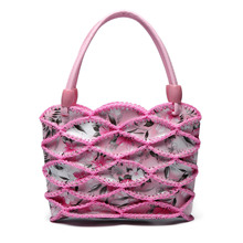 Chinese style 2017 new hand-woven mini women handbags ladies manual crochet weave small hand bag woman children students clutch(China)