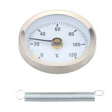 0-120 Bimetal Stainless Steel Surface Pipe Thermometer Clip-on Temperature Gauge with Spring