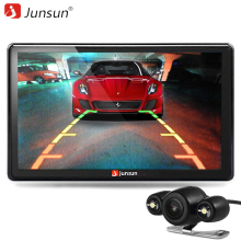 Junsun HD 7 inch Car GPS Navigation Bluetooth with Rear view Camera FM AVIN 256MB DDR/800MHZ Maps Free Updates(China)