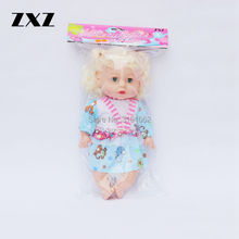 ZXZ 14 Inch Baby Born Doll Reborn Babies Dolls with 4 Voices IC In Card Packing(China)