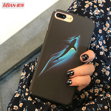JIBAN Luxury Ocean Blue Sperm Whale Case For iPhone 6 6s 6plus 6s Plus Capa Hard PC Plastic Back Phone Cover For iPhone 7 7 Plus(China)