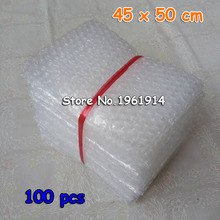 100pcs 45x50CM Air Bubble Pouches Wrap PE Buffer Mailer Packaging Inflatable Air Cushion Shockproof Bag in Bag