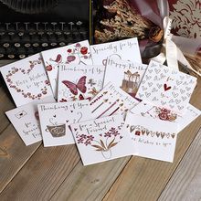 mini greeting cards embossed hot stamping daily greetings happy birthday small greeting cards(China)