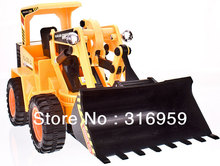 RC Truck 6 Ch Bulldozer Remote Control 4 Wheel Shovel Loader construction High-powered vehicle kids electric toys(China)