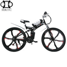 Free shipping 26 inches 350w motor mountain electric bicycle lithium battery power ECU folding bicycles instead of walking bike