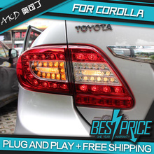 AKD Car Styling for COROLLA TAIL Lights LED Tail Light LED Rear Lamp DRL+Brake+Reversing+Signal LIGHT Automobile Accessories