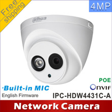 Free shipping Dahua H2.65 IPC-HDW4431C-A Built-in MIC HD 4MP IR 30m network IP Camera  cctv Dome Camera Support POE HDW4431C-A