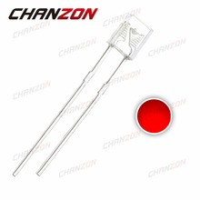 100pcs 2X3X4mm Square Red LED Diode Clear 20mA 2V Light Diode Transparent Rectangle 2*3*4 Light Emitting Diode Lamp Through Hole