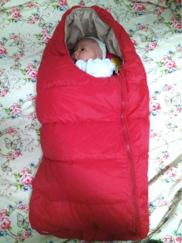 Baby Autunm Winter Sleepsacks Solid Duck Down Sleeping Sacks Knitted Newborn Blankets Pajama Clothing Envelope In Wheelchairs<br><br>Aliexpress