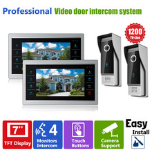 "Homefong 7"" TFT LCD Video Door Bell Phone Hands free Intercom Doorphone Monitor 2V2 Outdoor Night Infrared Camera with Doorbell"